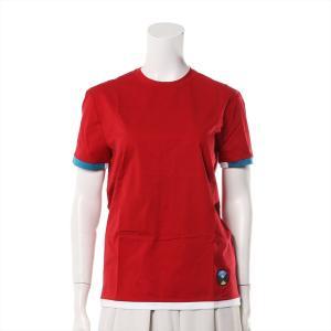 プラダ コットン Tシャツ サイズS レディース レッド 17SS|usus