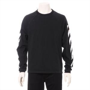 モンクレールxオフホワイト コットン Tシャツ S メンズ ブラック|usus