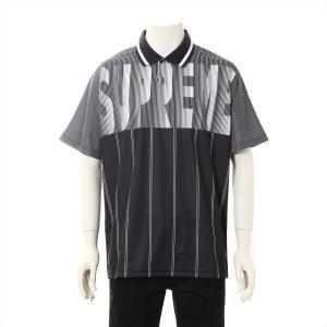 シュプリーム ポリエステル ポロシャツ L メンズ ブラック|usus