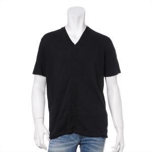 プラダ コットン Tシャツ L メンズ ブラック Vネック|usus