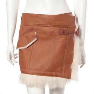 バーバリーブルーレーベル ムートン スカート サイズ38 レディース ブラウン|usus