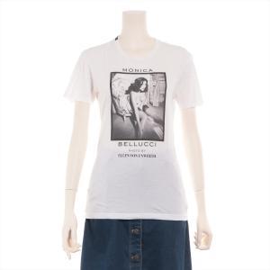 ドルチェ&ガッバーナ コットン Tシャツ 44 レディース ホワイト 14SS モニカ ベルッチ|usus