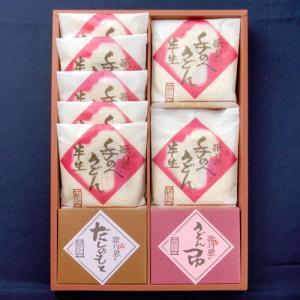 手のべ半生麺・つゆ詰合せ(HS-30)|utaandon