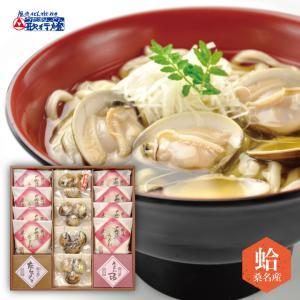 蛤 うどん ギフト / 桑名産 はまぐり うどんつゆ 半生うどん の 詰合せ|utaandon