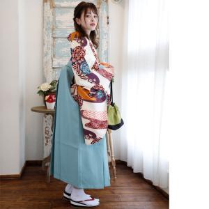 レンタル 袴セット 卒業式 2尺袖着物 袴16点セット 紫とからしのモダン流水 utatane 03