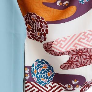 レンタル 袴セット 卒業式 2尺袖着物 袴16点セット 紫とからしのモダン流水 utatane 07