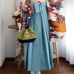 レンタル 袴セット 卒業式 2尺袖着物 袴16点セット 紫とからしのモダン流水 utatane 08