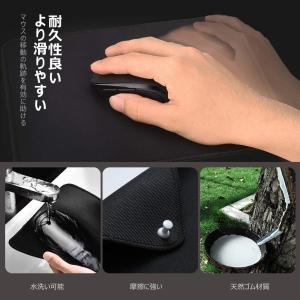 Qtuo 2.4G ワイヤレスマウス&マウスパッドセット 無線マウス 5DPIモード ボタンを調整可...