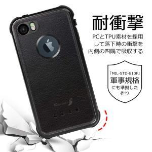 KYOKA iPhone SE 5 5s 防水ケース 指紋認証対応 防水 耐震 防塵 耐衝撃 IP6...