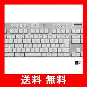 Logicool G ゲーミングキーボード テンキーレス G913 TKL ホワイト LIGHTSPEED ワイヤレス タクタイル 静音 日本語配列|utidenokozuchi