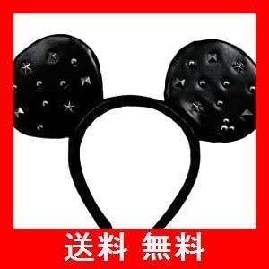 カチューシャ ミッキー マウス ( レザー スタッズ ) ディズニー なりきり グッズ 可愛い ヘア アクセサリー 小物 ( ディズニーリゾート限定|utidenokozuchi