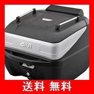 GIVI (ジビ) バイク用 リアボックス 32L 未塗装ブラック シルバーパネル モノロックケース オプション付き(インナーボトムマット/バックレ|utidenokozuchi