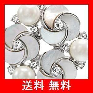 [プラスヴァンドーム] Plus Vendome 白蝶貝 フラワー パール リース ブローチ PVNV9238 UW|utidenokozuchi