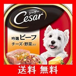 シーザー 成犬用 吟選ビーフ チーズ・野菜入り 100g×24個 (ケース販売) [ドッグフード・ウェット]|utidenokozuchi