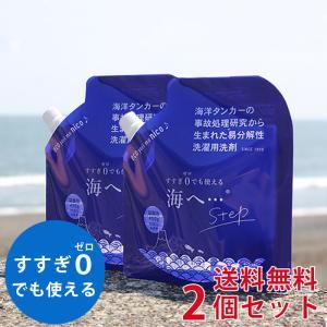 がんこ本舗 洗濯洗剤 海へ step 詰替用パック 450ml 2個セット|utikire