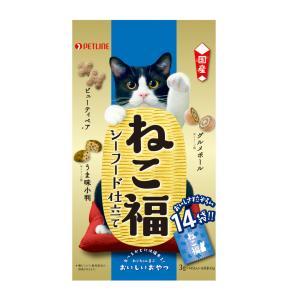 日清ペットフード ねこ福シーフード 3g×14袋 (キャットフード/猫用おやつ/猫のおやつ・猫のオヤツ・ねこのおやつ/猫用品/猫(ねこ・ネコ)/ペット用品)|utopia-y