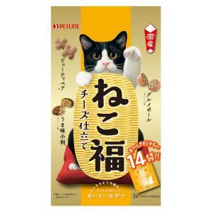日清ペットフード ねこ福チーズ 3g×14袋 (キャットフード/猫用おやつ/猫のおやつ・猫のオヤツ・ねこのおやつ/猫用品/猫(ねこ・ネコ)/ペット用品) utopia-y