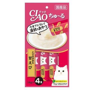 いなば チャオ CIAO ちゅ〜る とりささみ&甘えび 14g×4本(いなば チャオ(CIAO)/キャットフード/猫用おやつ/猫のおやつ・猫のオヤツ・ねこのおやつ/猫用品)|utopia-y