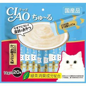 いなば チャオ ちゅーる(ちゅ〜る)とりささみ かつお節ミックス味 14g×20本(キャットフード/猫用おやつ/猫のおやつ・猫のオヤツ・ねこのおやつ)|utopia-y