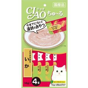 いなば チャオ ちゅーる ちゅ〜る とりささみ&いか 14g×4本入 (キャットフード/猫用おやつ/猫のおやつ・猫のオヤツ・ねこのおやつ)(いなば チャオ CIAO )|utopia-y