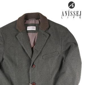 ANISSEJ ジャケット メンズ 秋冬 52/2XL グレー 灰色 アニセイ 大きいサイズ 並行輸入品|utsubostock