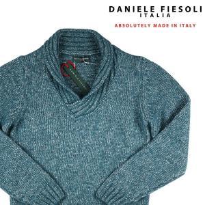 DANIELE FIESOLI 丸首セーター メンズ 秋冬 S/44 グリーン 緑 ダニエレフィエゾーリ 並行輸入品|utsubostock