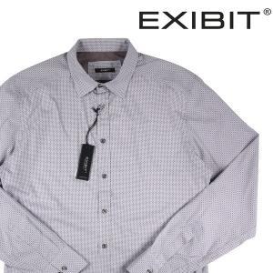 EXIBIT 長袖シャツ メンズ L/48 グレー 灰色 エグジビット 並行輸入品|utsubostock