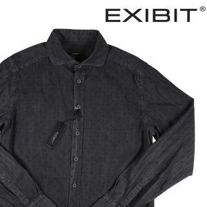 EXIBIT デニムシャツ メンズ L/48 グレー 灰色 エグジビット 並行輸入品|utsubostock
