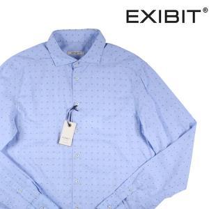 EXIBIT 水玉 長袖シャツ CA113C514 light blue XL 10067LBL【A10076】 エグジビット|utsubostock