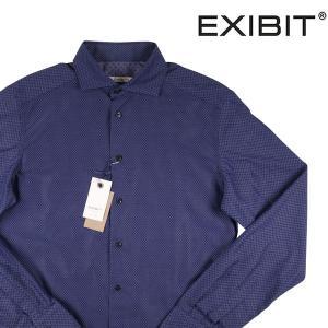 EXIBIT 長袖シャツ メンズ S/44 ネイビー 紺 エグジビット 並行輸入品|utsubostock
