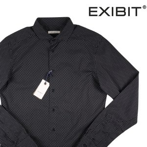 EXIBIT 長袖シャツ メンズ XXL/52 ブラック 黒 エグジビット 大きいサイズ 並行輸入品|utsubostock