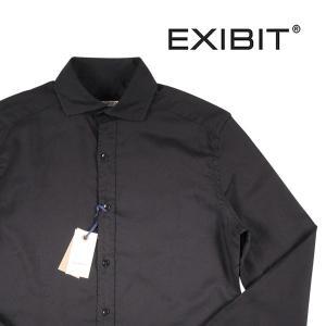 EXIBIT 長袖シャツ メンズ S/44 ブラック 黒 エグジビット 並行輸入品|utsubostock