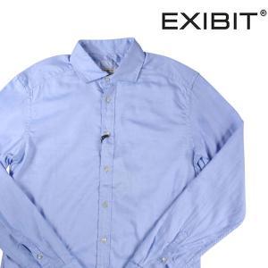【M】 EXIBIT エグジビット 長袖シャツ メンズ ブルー 青 並行輸入品 カジュアルシャツ|utsubostock