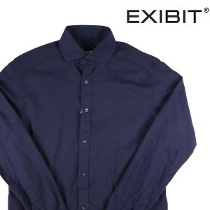 EXIBIT 長袖シャツ メンズ L/48 ネイビー 紺 エグジビット 並行輸入品|utsubostock
