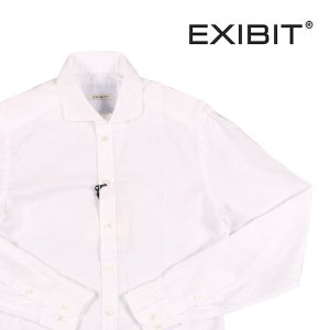 【M】 EXIBIT エグジビット 長袖シャツ メンズ ホワイト 白 並行輸入品 カジュアルシャツ|utsubostock