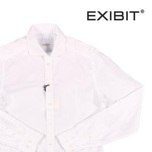 EXIBIT 長袖シャツ メンズ XXL/52 ホワイト 白 エグジビット 大きいサイズ 並行輸入品|utsubostock
