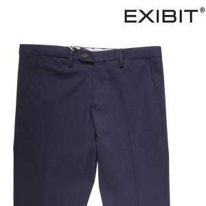 EXIBIT ニットパンツ メンズ 44/S ネイビー 紺 エグジビット 並行輸入品|utsubostock
