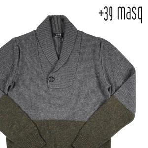 【XS】 +39 masq マスク Vネックセーター メンズ 秋冬 カシミヤ混 グレー 灰色 並行輸入品 ニット|utsubostock
