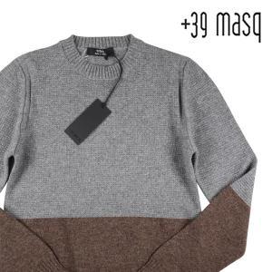+39 masq 丸首セーター メンズ 秋冬 S/44 グレー 灰色 カシミヤ混 マスク 並行輸入品|utsubostock