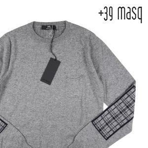 +39 masq 丸首セーター メンズ 秋冬 XS/42 グレー 灰色 カシミヤ混 マスク 並行輸入品|utsubostock