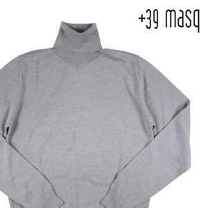 【S】 +39 masq マスク タートルネックセーター メンズ 秋冬 グレー 灰色 並行輸入品 ニット|utsubostock