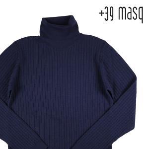 +39 masq タートルネックセーター メンズ 秋冬 S/44 ブラック 黒 マスク 並行輸入品|utsubostock