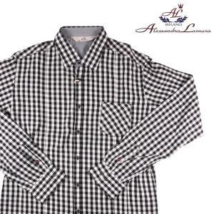 【L】 alessandrolamura アレッサンドロラムーラ 長袖シャツ メンズ チェック グレー 灰色 並行輸入品 カジュアルシャツ|utsubostock