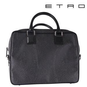 ETRO エトロ ブリーフケース black【10607】|utsubostock