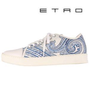 ETRO スニーカー メンズ 39/24.0cm ホワイト 白 エトロ 並行輸入品|utsubostock