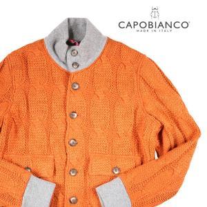 CAPOBIANCO ブルゾン メンズ 秋冬 XL/50 オレンジ カポビアンコ 並行輸入品|utsubostock