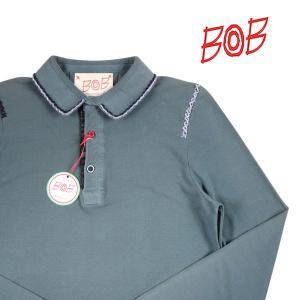 BOB 長袖ポロシャツ メンズ M/46 グリーン 緑 RICKYY ボブ 並行輸入品|utsubostock