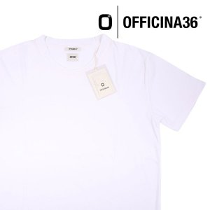 【L】 officina 36  オフィッチーナ トレンタセイ Uネック半袖Tシャツ メンズ ホワイト 白 並行輸入品 トップス|utsubostock