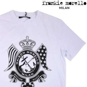 【XS】 frankie morello sigma Uネック半袖Tシャツ メンズ 春夏 ホワイト 白 並行輸入品 トップス|utsubostock