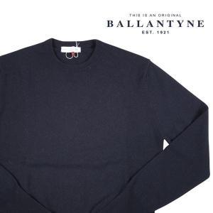 BALLANTYNE 丸首セーター メンズ 秋冬 52/2XL ネイビー 紺 カシミヤ100% D2P000 バランタイン 大きいサイズ 並行輸入品|utsubostock